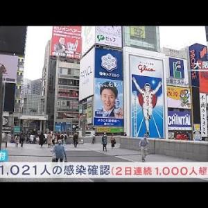 新型コロナ 大阪で1021人感染確認【新型コロナ】