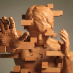 【現実とデジタルの狭間】Hsu Tung Hanのピクセルを用いたグリッチ彫刻作品「解散と集合」が摩訶不思議!