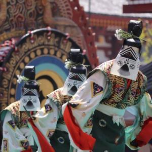 【千と千尋の春日様?!】四天王寺聖霊会の舞楽の衣装がとっても雅!