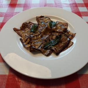 イタリア家庭料理 ナスのカルパッチョとってもかんたんにできるヘルシーな前菜