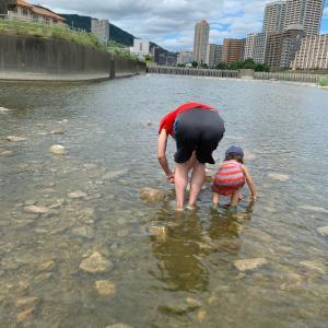 川の生き物観察会☆