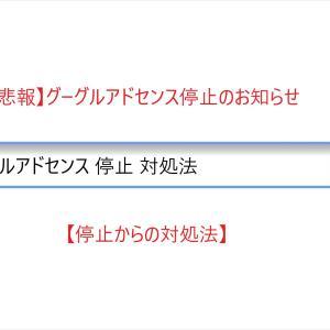 【悲報】グーグルアドセンス停止のお知らせ【停止からの対処法】