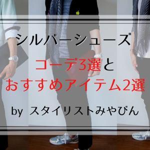 シルバーシューズのコーデ3選とおすすめアイテム2選【メンズファッション】