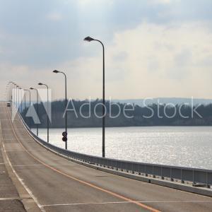 【石川県七尾市】七尾市内と能登島を結ぶ二つの離島架橋を一筆書き