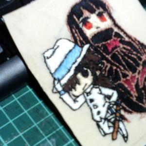 前回の《FGO坂本龍馬&お竜さん》刺繍から一年。~龍馬二作目刺繍中。~