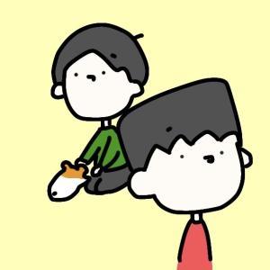 4コマ漫画「くすぐったい」