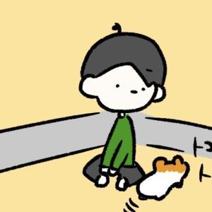 4コマ漫画「脱走」