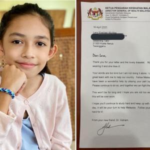 9歳の女の子がマレーシアの保健省局長に手紙とブレスレットを贈ると局長から返事が「いつの日か、あなたがマレーシアを助ける番が来ます」