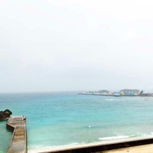 【梅雨入り?】与論島の風景紹介 その7 雨の与論供利港と茶花港