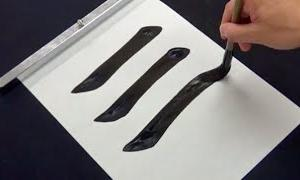 【書道習字】基本線・基本点画の書き方【見本】 | Japanese Calligraphy tutorial How to strokes practice with brush