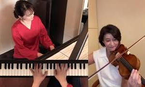 高嶋ちさ子 加羽沢美濃〝CHISA & MINO〟テレワーク「春のスケッチ2020」弾いてみた