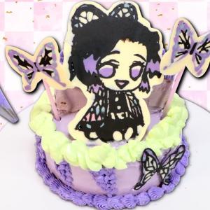 【鬼滅の刃ケーキ作り🦋】簡単♪胡蝶しのぶのキャラクターケーキを手作り❤︎ 100均のチョコペンで誰でも作れるキャラチョコをDIY★ Demon Slayer cake