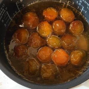 「梅ジャム」&「梅シロッブ」作る:炊飯器