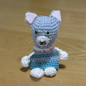 再び挑戦!フェリシモのかぎ針編み講座第4号、猫のパペット