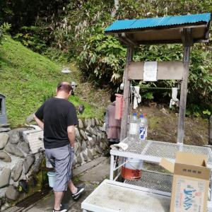新十津川町の名水の、夫婦山霊水