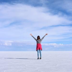 【3日目】ウユニ塩湖を大満喫!「FULL DAY+SUNSET」ツアーへ。