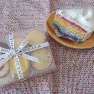 【ディーンアンドデルーカのレインボーケーキ】見た目も味も楽しめてギフトにおすすめ