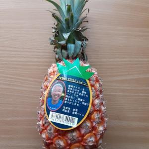 台湾産パイナップル届く/芯まで食べられて格別な味