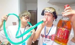 【ドッキリ】どちらかの喉にお酒がぶち込まれます。