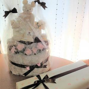 友人への出産祝い♪手作りオムツケーキ!