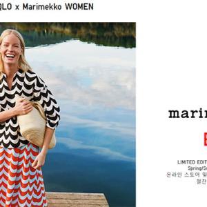 日本未発売の韓国UNIQLO×マリメッココラボ