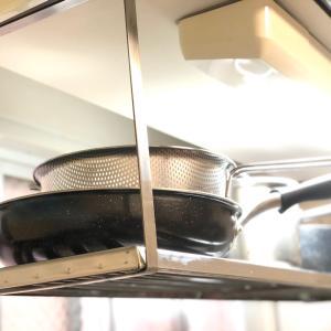 台所の吊り棚をピカる