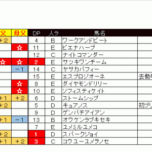 出馬表&本命馬(2020/05/24・日)