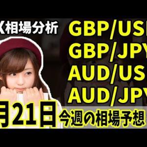 【為替FX相場分析】「ポンドドル・ポンド円・豪ドル・豪円 9月21日~相場分析」【投資家プロジェクト億り人さとし】