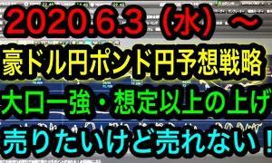 FX2020.6.3(水)~豪ドル円ポンド円予想戦略