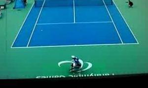 「車椅子テニス(3-1)一部」国枝慎吾VSアマラーン 北京パラリンピック2008