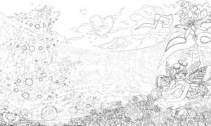 白猫虹イラスト クッションを抱く妖精 見るだけで脳みそが良くなる 魔法の絵シリーズ第2弾