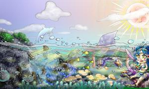 「竜宮の姫」 白猫虹イラスト 見るだけで脳みそが回復する魔法の絵シリーズNO4