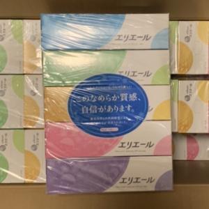 ボックスティッシュ60箱到着!!静岡県富士宮市の返礼品です。