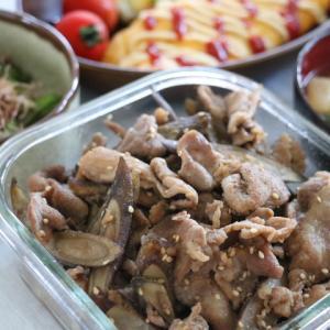 夕飯献立~豚こまで簡単しぐれ煮~