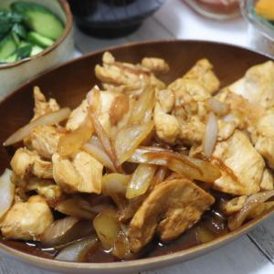 夕飯献立~鶏の生姜焼き~