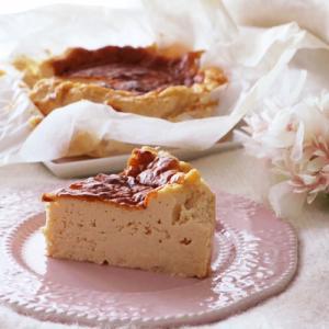 プリン味のバスクチーズケーキレシピ