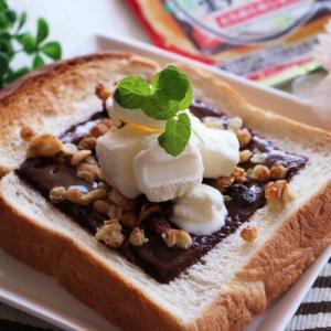 スライス生チョコで♡パフェのようなスイーツトースト