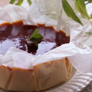 焼かないケーキの生バスク風チーズケーキレシピ