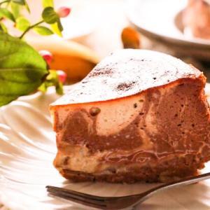 チョコとバナナのマーブルバスク風チーズケーキレシピ