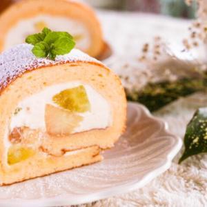フルーツチーズスフレロールケーキレシピ