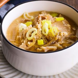 豚肉と大根の春雨味噌スープレシピ