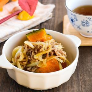 焼き肉のタレで簡単♪かぼちゃと玉ねぎの煮物レシピ