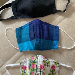 インドで布マスク作りました