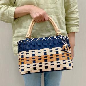 自分色のかごバッグ、お披露目します~NHK文化センター講座~