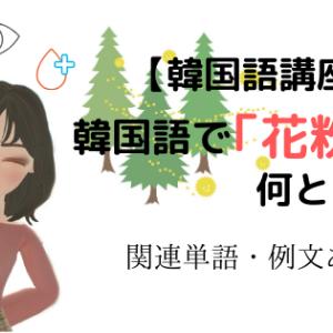 【韓国語講座】 韓国語で「花粉」は何という?【関連単語&例文あり】