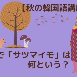 【韓国語講座】韓国語で「サツマイモ」は何という?