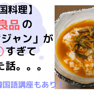 【韓国料理】無印良品の「ユッケジャン」が○○すぎて泣いた話。。。【ミニミニ韓国語講座もあり!】