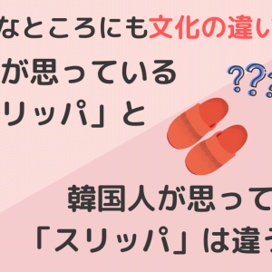 こんなところにも文化の違いが!日本人が思っている「スリッパ」と韓国人が思っている「スリッパ」は違う!!?