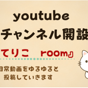 youtube チャンネル開設しました!!