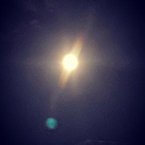 月がキレイでした。